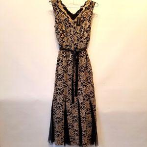 Candalite NEW Gold Black Sleeveless Dress M